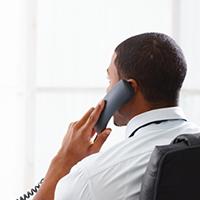 phone call at desk