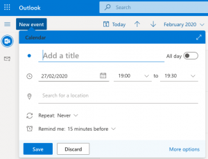 Setting up a conference call in Outlook